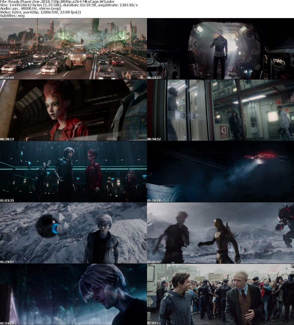 Ready Player One 2018 720p BRRip x264-MkvCage WS