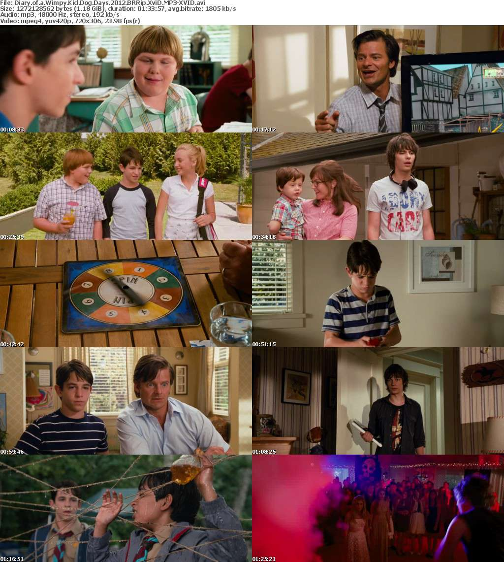 Diary of a Wimpy Kid Dog Days 2012 BRRip XviD MP3-XVID