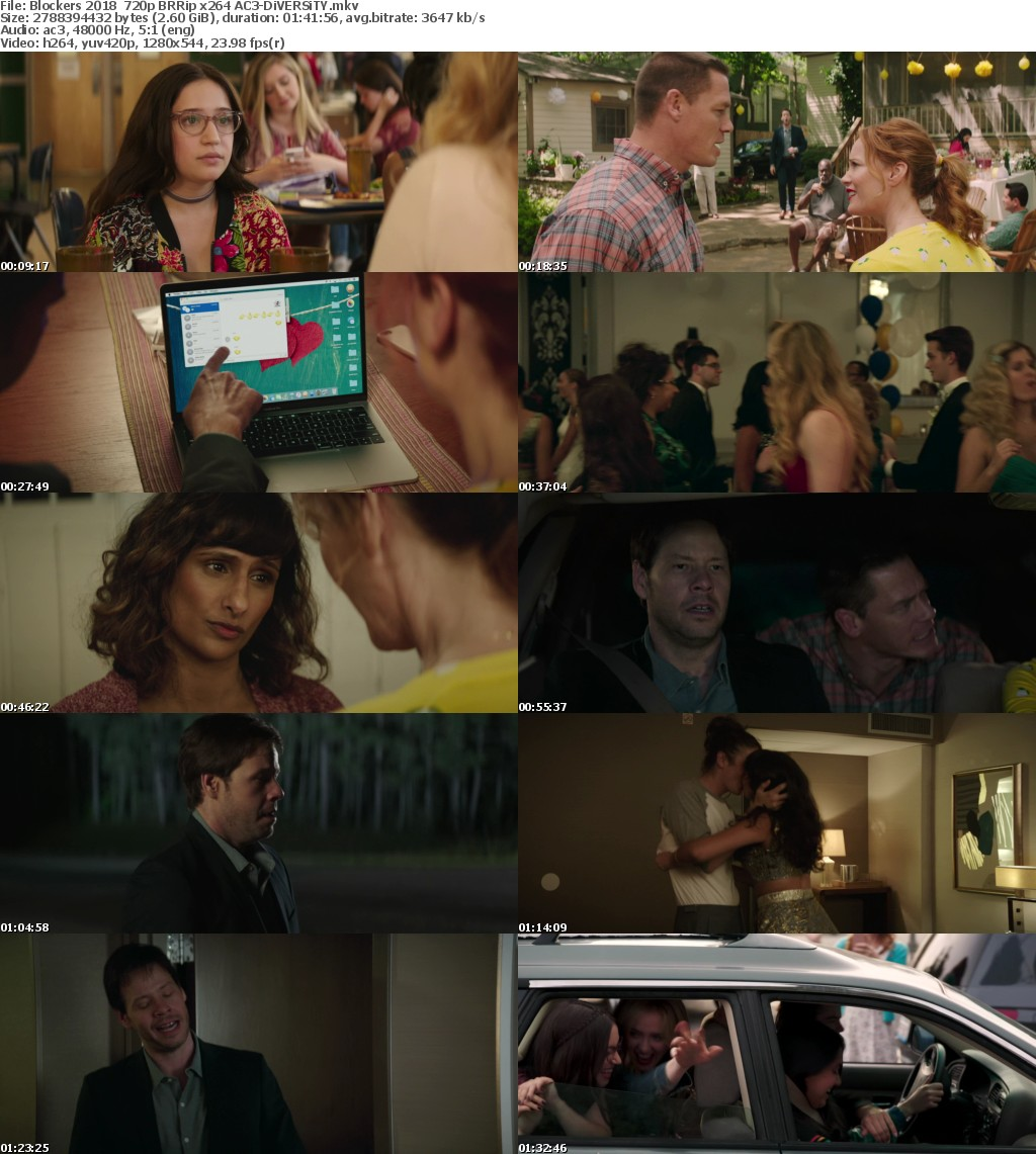 Blockers 2018 720p BRRip x264 AC3-DiVERSiTY