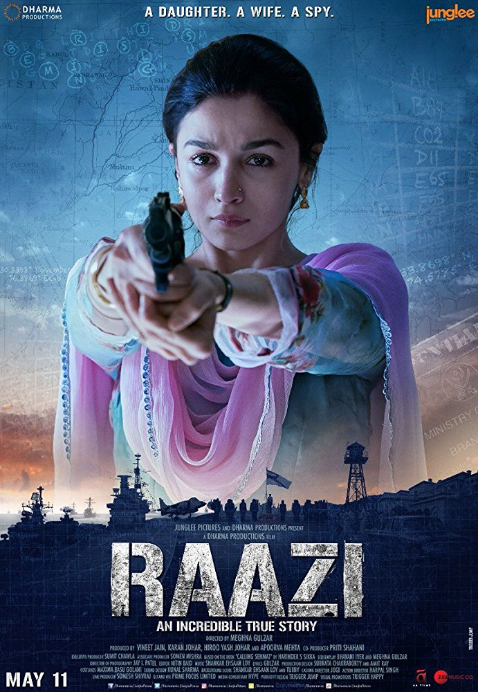 Raazi 2018 Hindi 720p WEBRip x264 AAC ESub - xRG