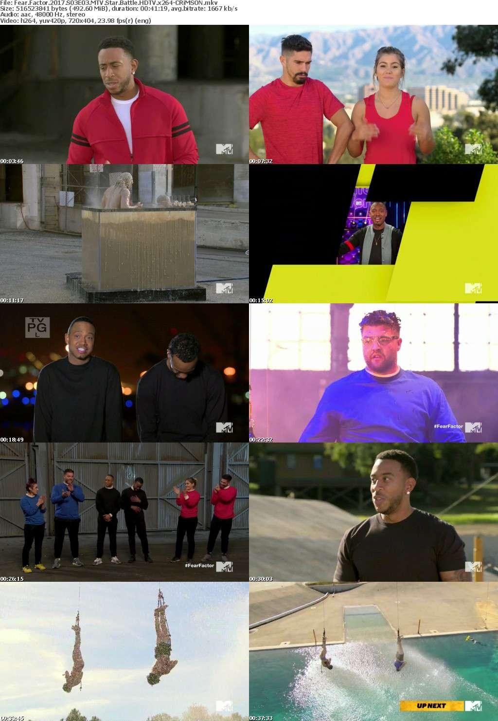 Fear Factor 2017 S03E03 MTV Star Battle HDTV x264-CRiMSON