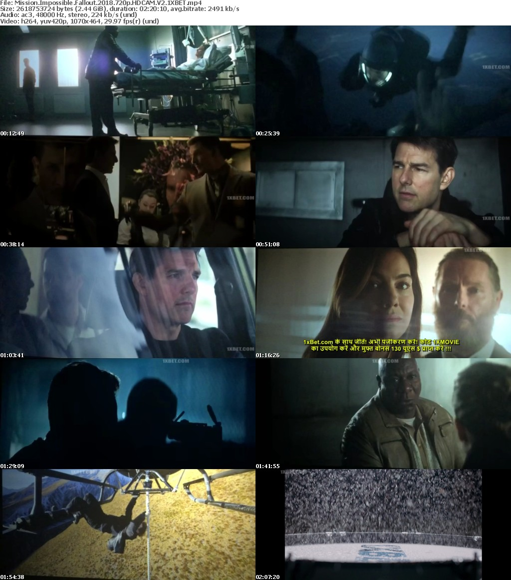 Mission Impossible Fallout 2018 720p HDCAM V2 1XBET