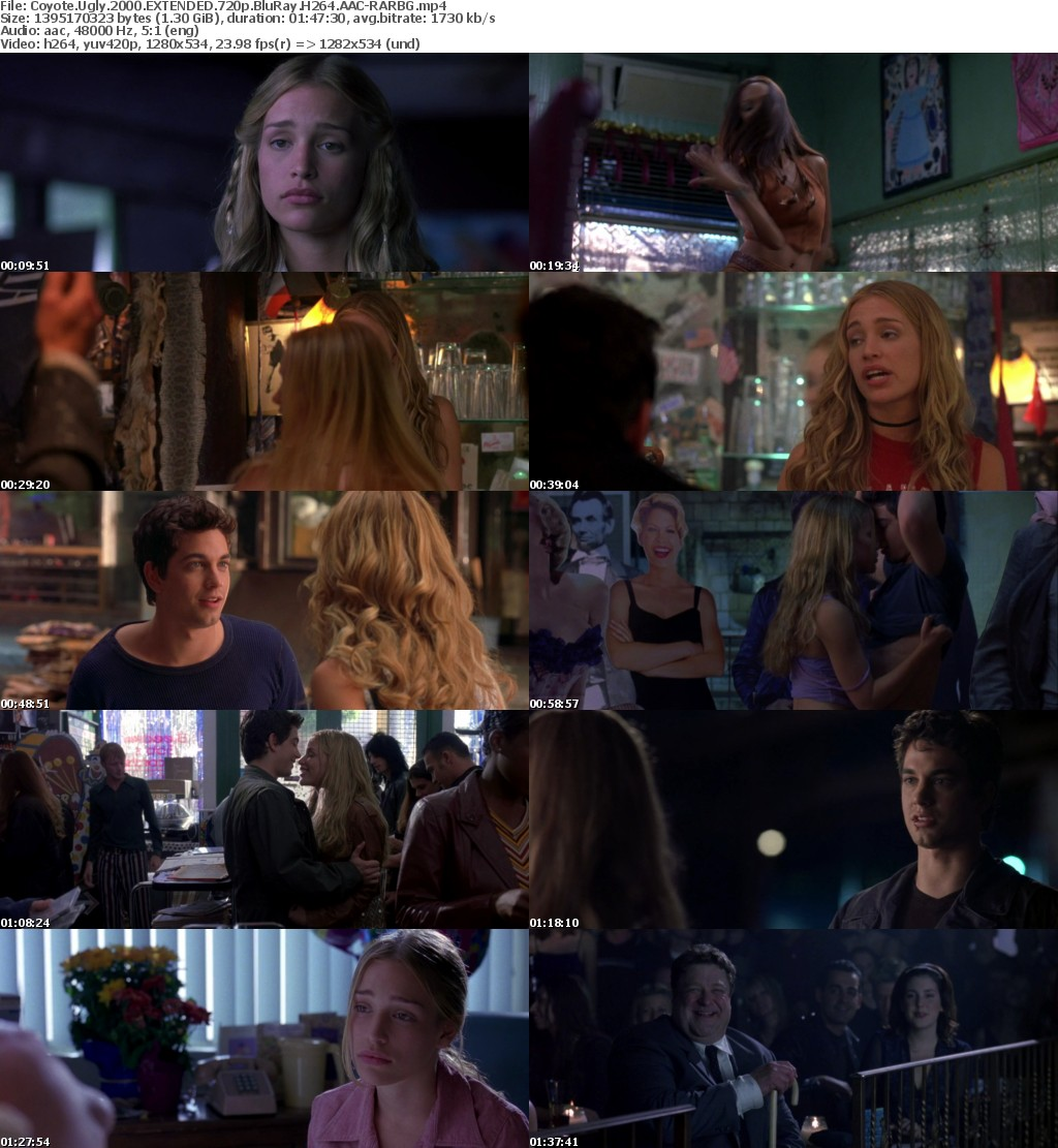 Coyote Ugly 2000 EXTENDED 720p BluRay H264 AAC-RARBG