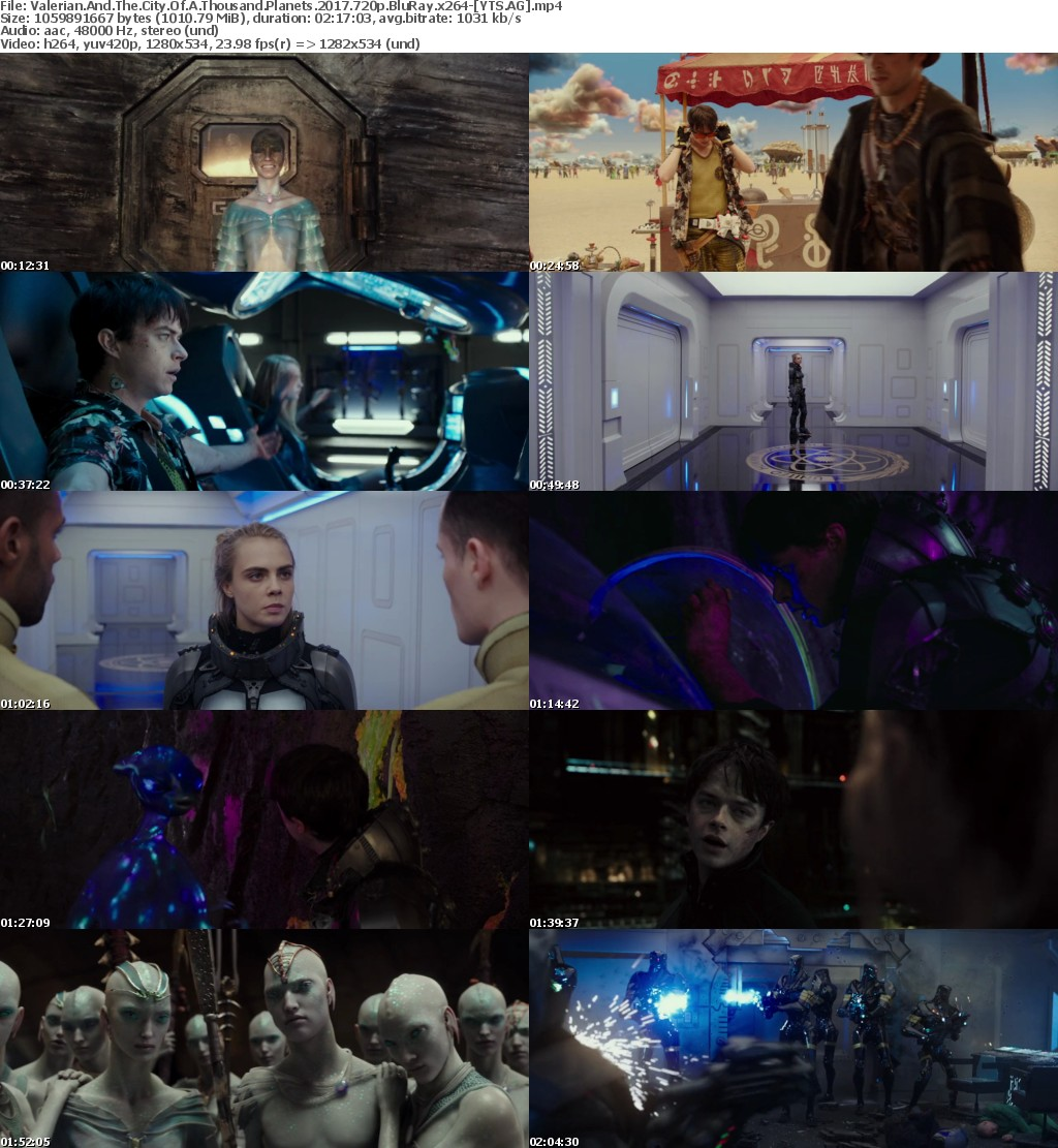 Valerian and the City of a Thousand Planets (2017) [BluRay] [720p] YIFY