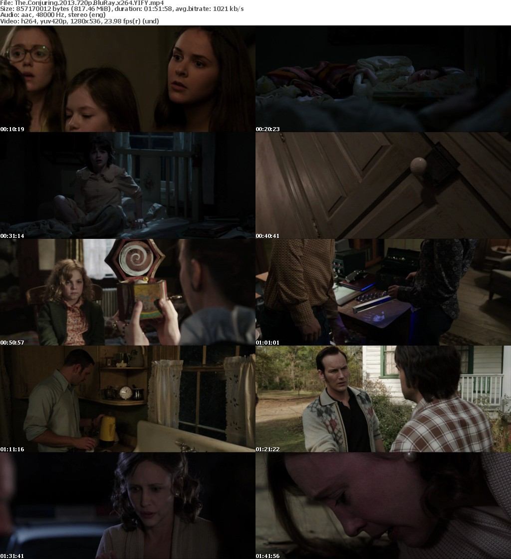 The Conjuring (2013) [BluRay] [720p] YIFY