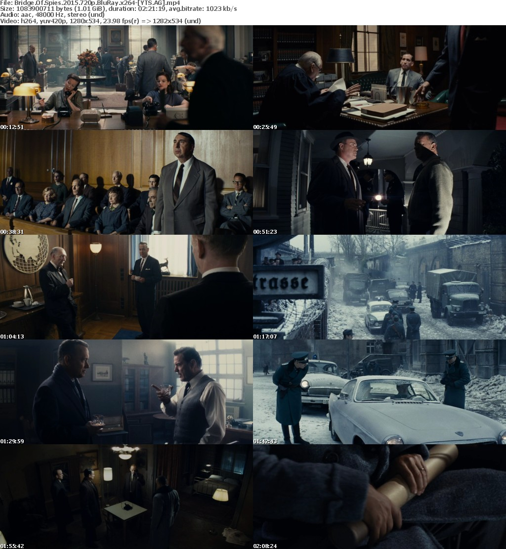 Bridge of Spies (2015) [BluRay] [720p] YIFY