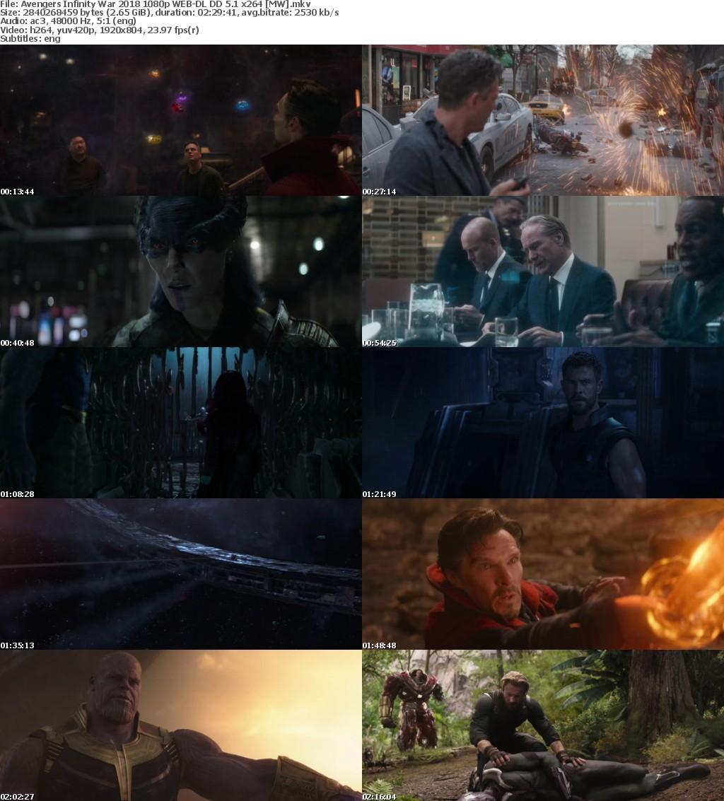 Avengers Infinity War (2018) 1080p WEB-DL DD 5.1 x264 MW