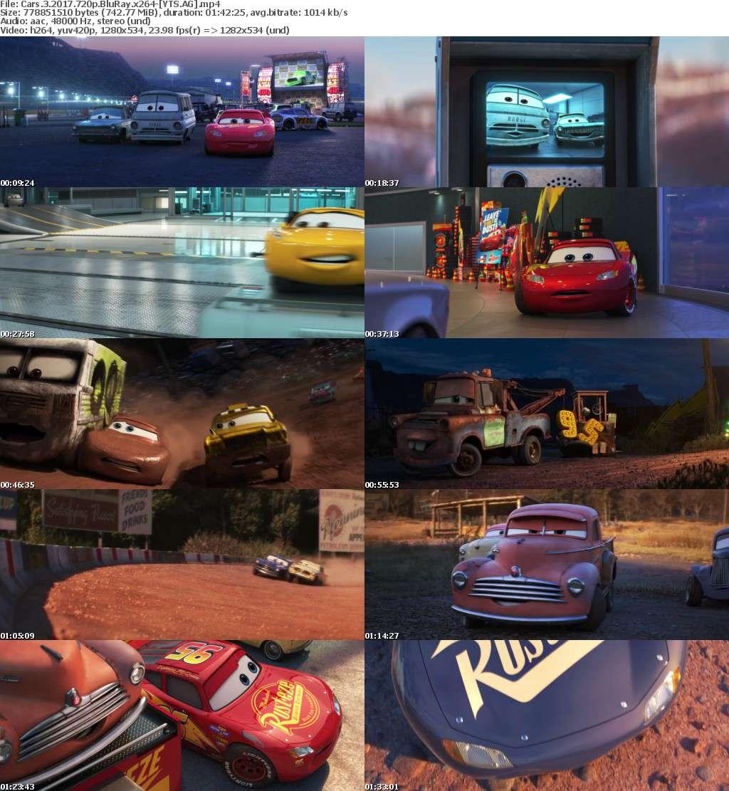 Cars 3 (2017) [BluRay] [720p] YIFY