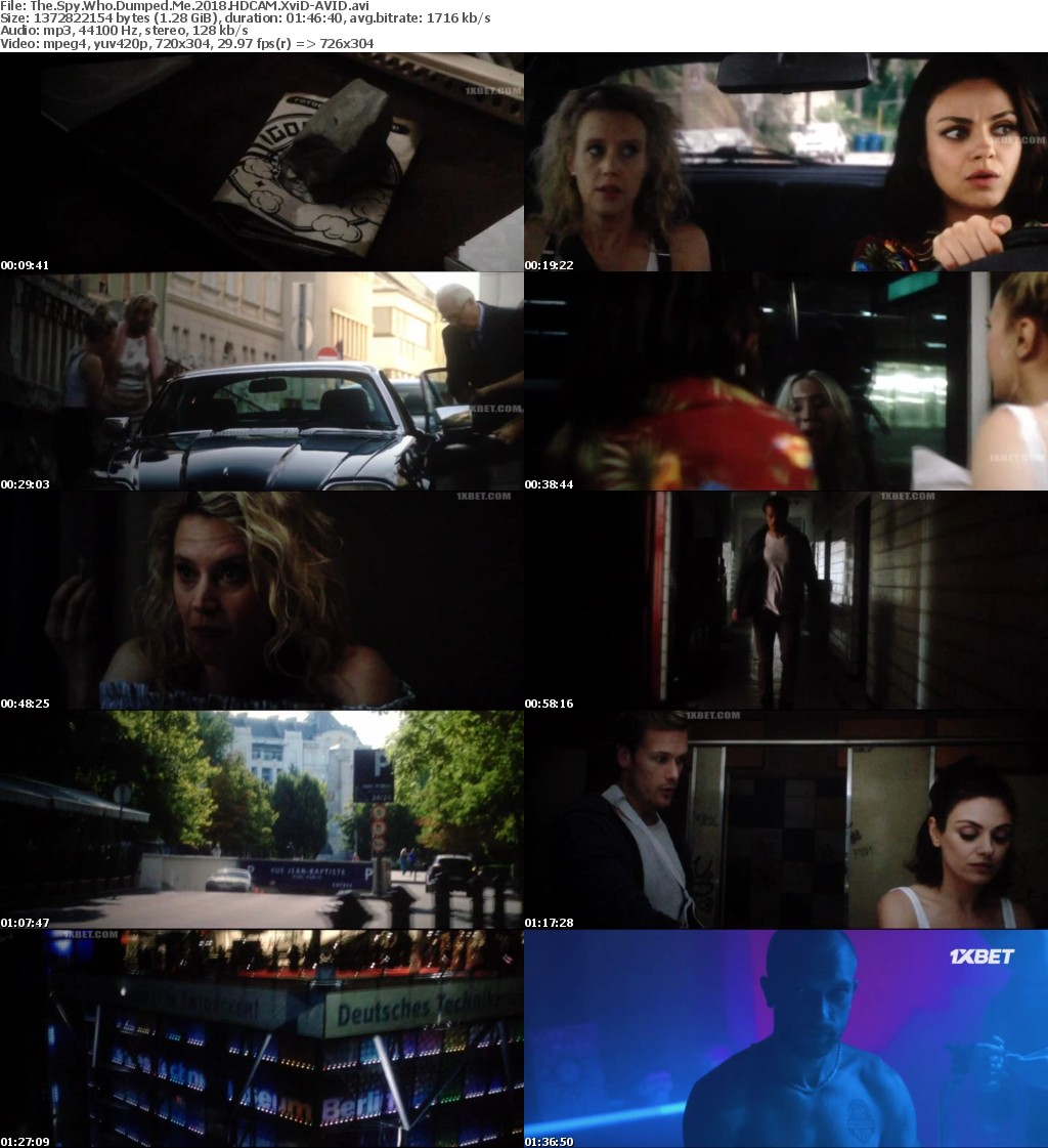 The Spy Who Dumped Me (2018) HDCAM XviD-AVID