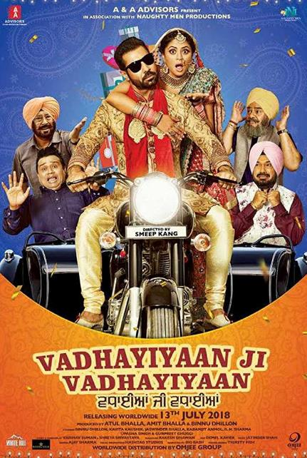 Vadhaiyan Ji Vadhaiyan (2018) Punjabi Pre-CAMRip x264 AAC ESub-DLW