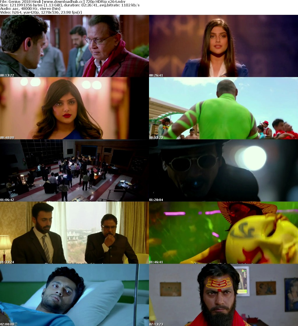 Genius (2018) Hindi 720p HDRip x264 AAC - Downloadhub