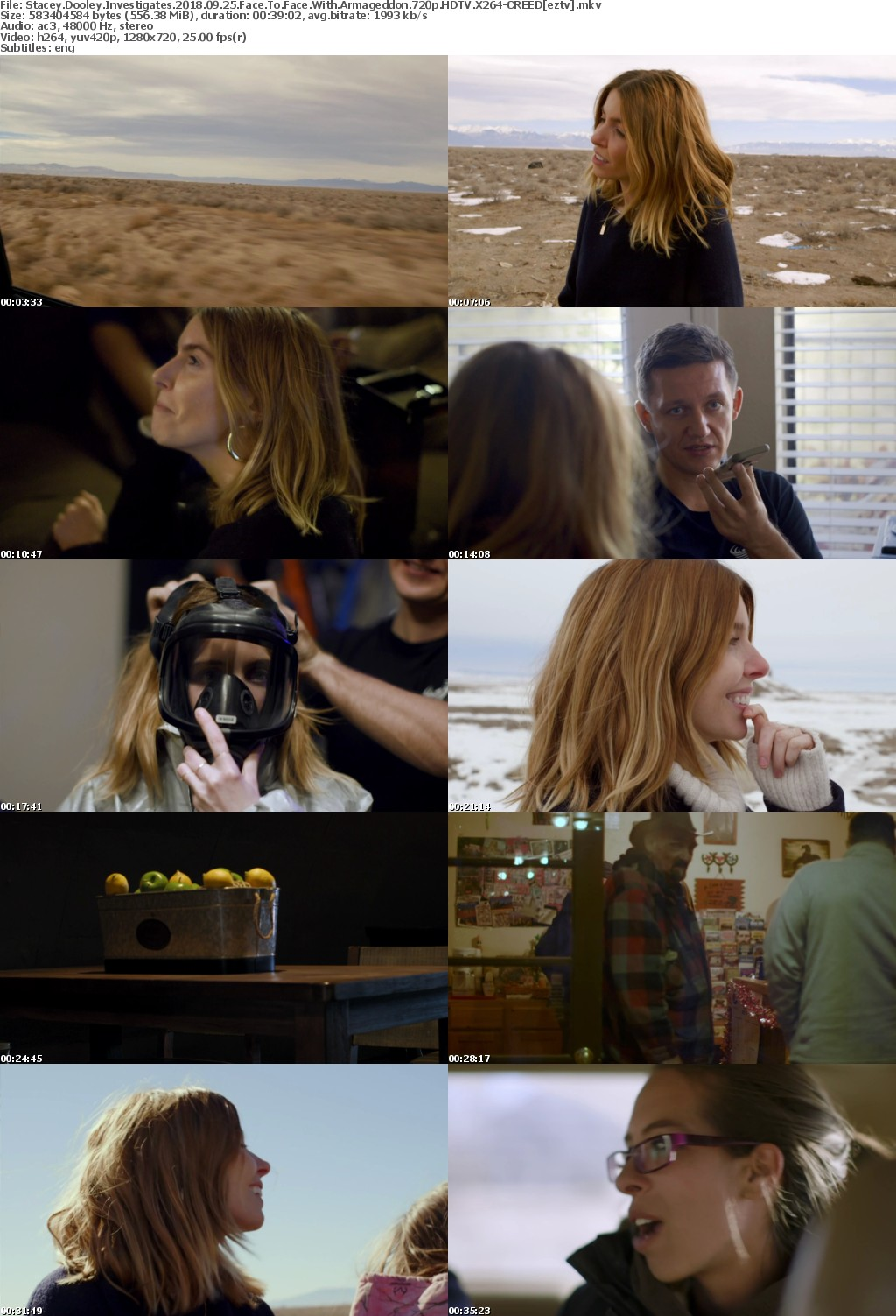 Stacey Dooley Investigates 2018 09 25 Face To Face With Armageddon 720p HDTV X264-CREED