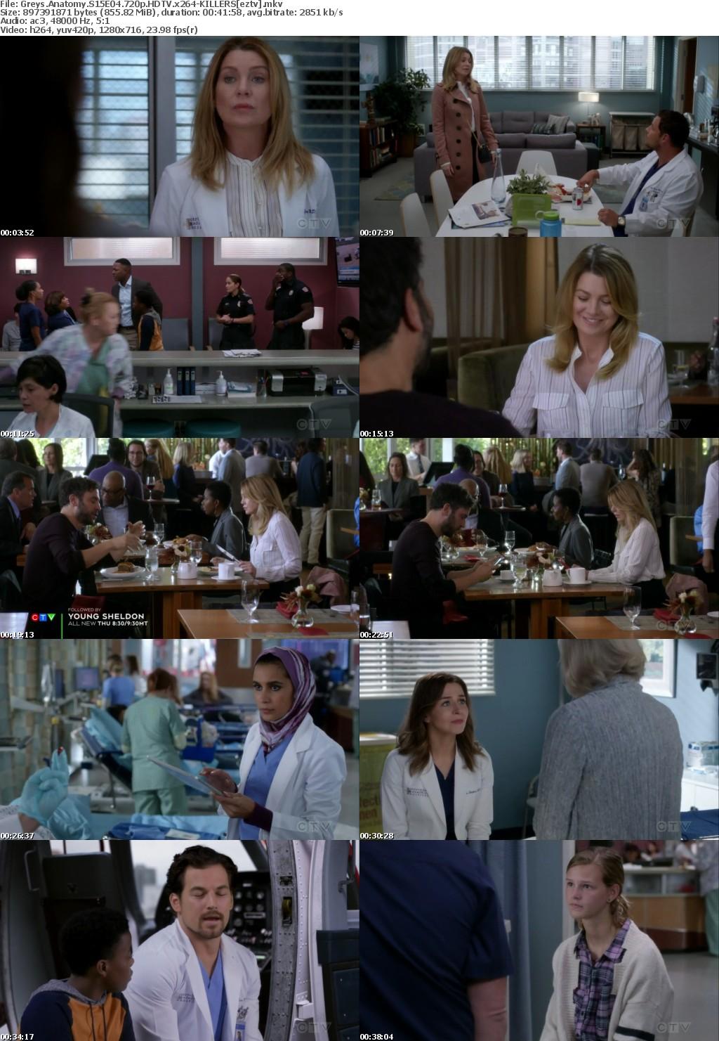 Greys Anatomy S15E04 720p HDTV x264-KILLERS
