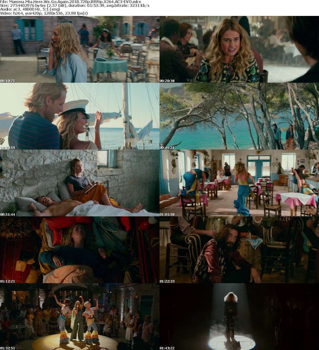 Mamma Mia Here We Go Again (2018) 720p BRRip X264 AC3-EVO