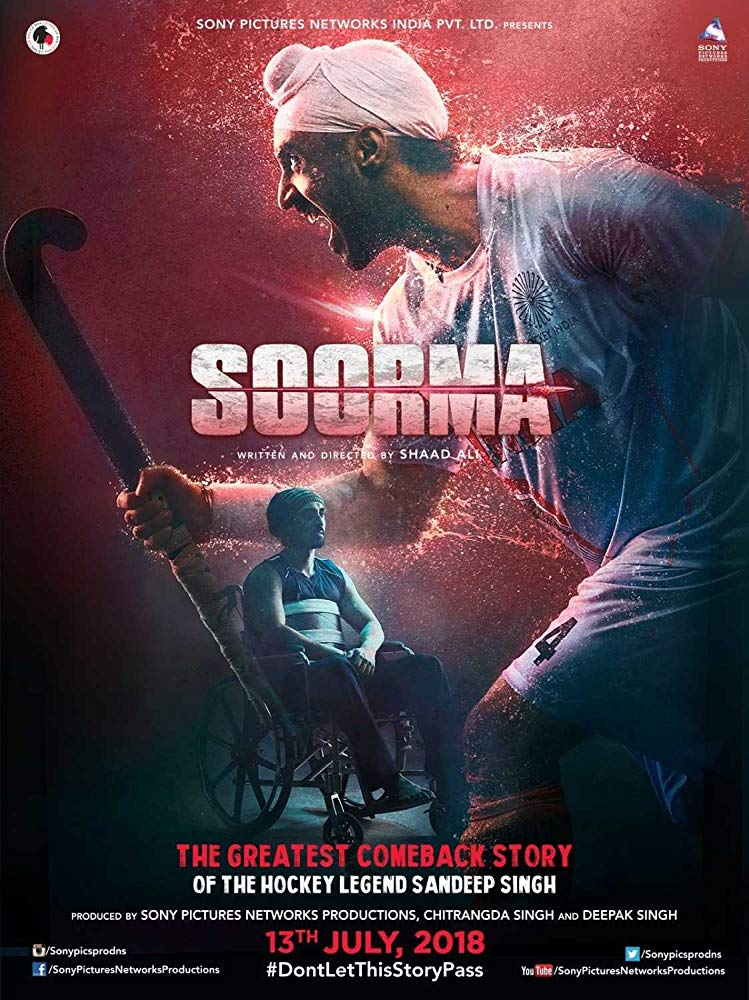 Soorma 2018 Hindi 720p WEBRip-H264-AC3 5 1-Zi$t