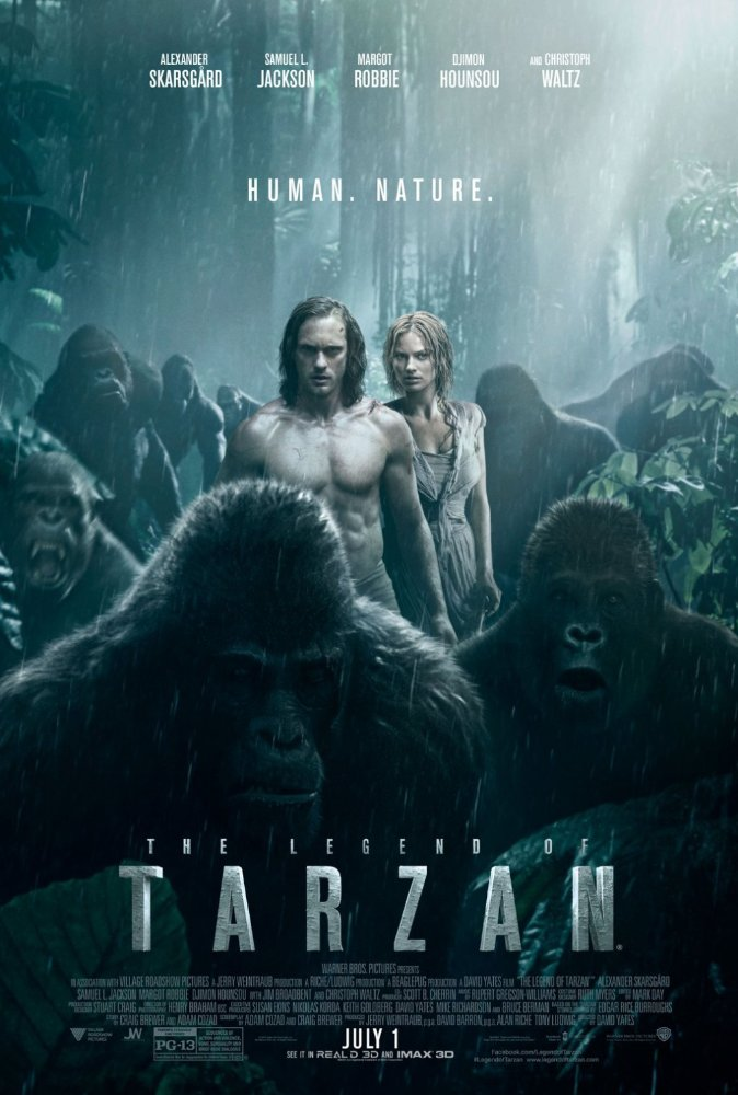 The Legend of Tarzan 2016 720p BluRay x264 Dual Audio Hindi DD 5 1 - English 2 0 ESub MW