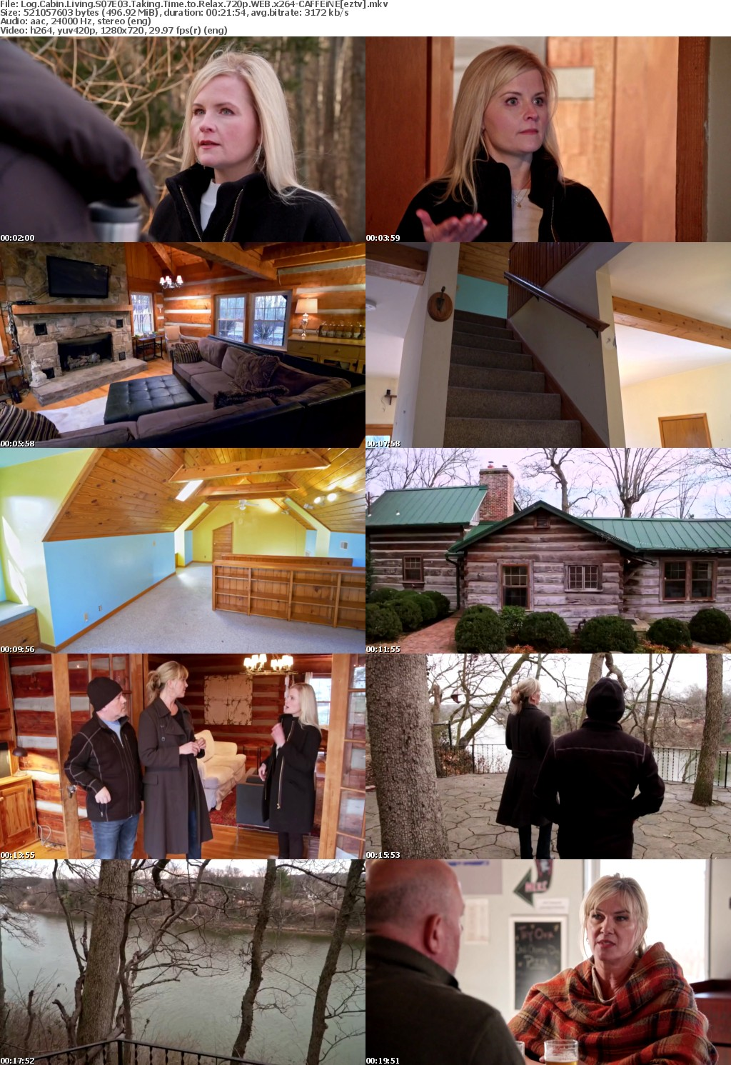 Log Cabin Living S07E03 Taking Time to Relax 720p WEB x264-CAFFEiNE