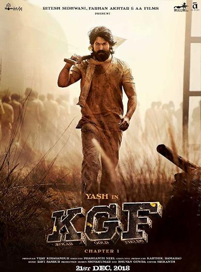K G F Chapter 1 (Kolar Gold Fields) (2018) Hindi (Cleaned) 720p Pre-DvDRip x264 AAC -UnknownStAr