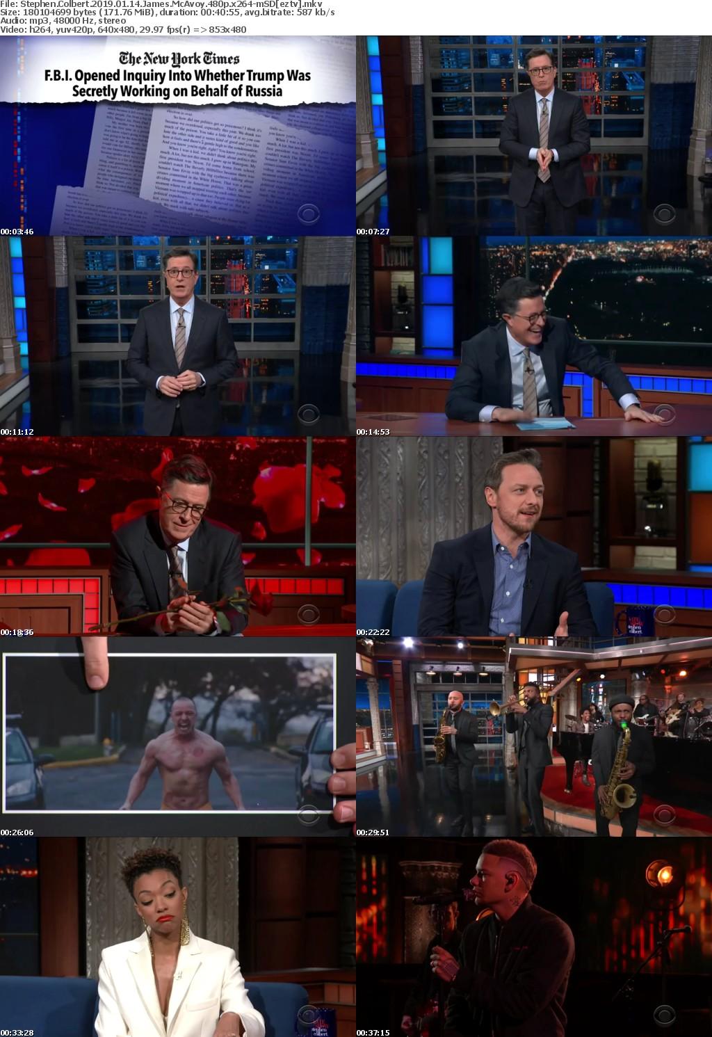 Stephen Colbert (2019) 01 14 James McAvoy 480p x264-mSD