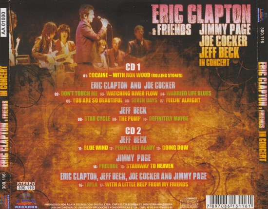 Eric Clapton Jimmy Page Joe Cocker Jeff Beck - In Concert