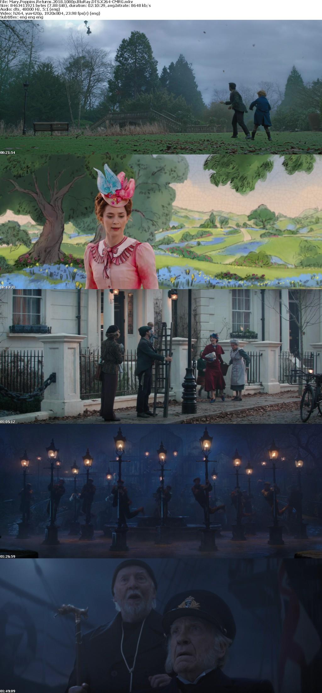 Mary Poppins Returns 2018 1080p BluRay DTS X264-CMRG