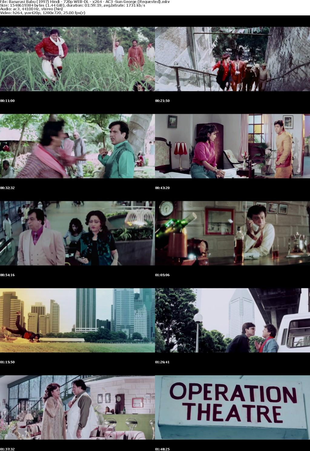 Banarasi Babu (1997) Hindi - 720p WEB-DL - x264 - AC3 -Sun George (Requested)