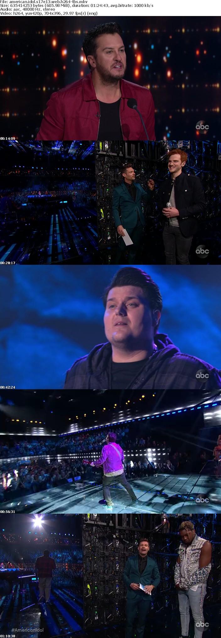 American Idol S17E13 WEB h264-TBS