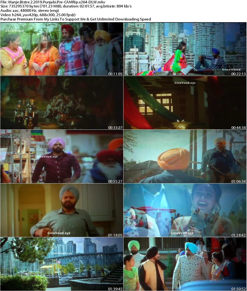 Manje Bistre 2 (2019) Punjabi Pre-CAMRip x264-DLW
