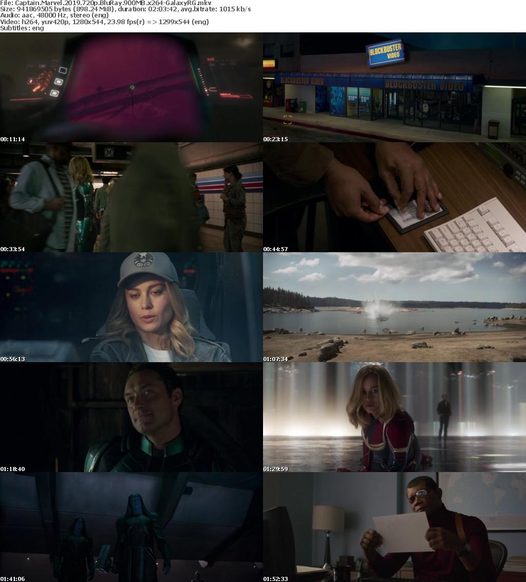 Captain Marvel 2019 720p BluRay 900MB x264-GalaxyRG