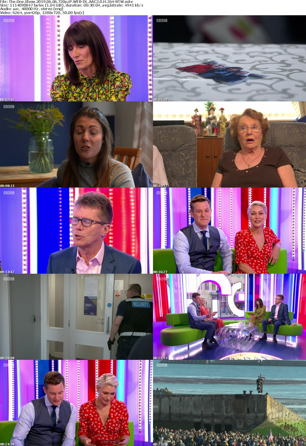 The One Show 2019 06 06 720p iP WEB-DL AAC2 0 H 264-BTW