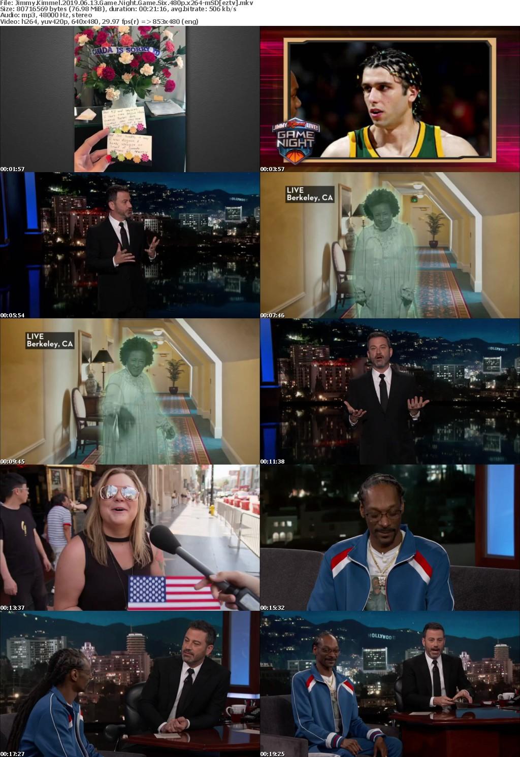 Jimmy Kimmel 2019 06 13 Game Night Game Six 480p x264-mSD
