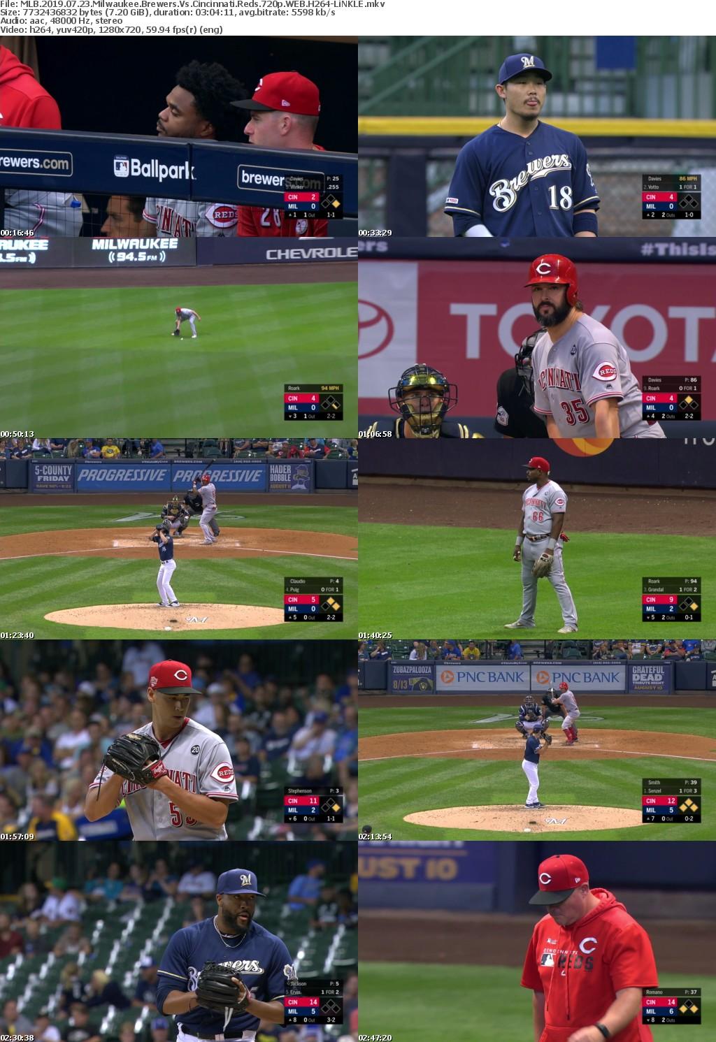 MLB 2019 07 23 Milwaukee Brewers Vs Cincinnati Reds 720p WEB H264-LiNKLE