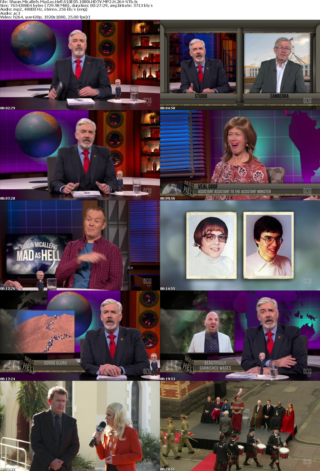 Shaun Micallefs Mad as Hell S10E05 1080i HDTV MP2 H 264-NTb