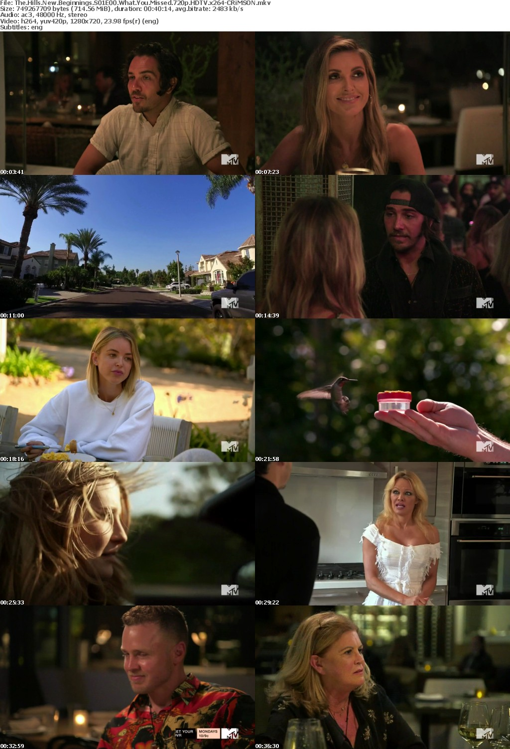 The Hills New Beginnings S01E00 What You Missed 720p HDTV x264-CRiMSON