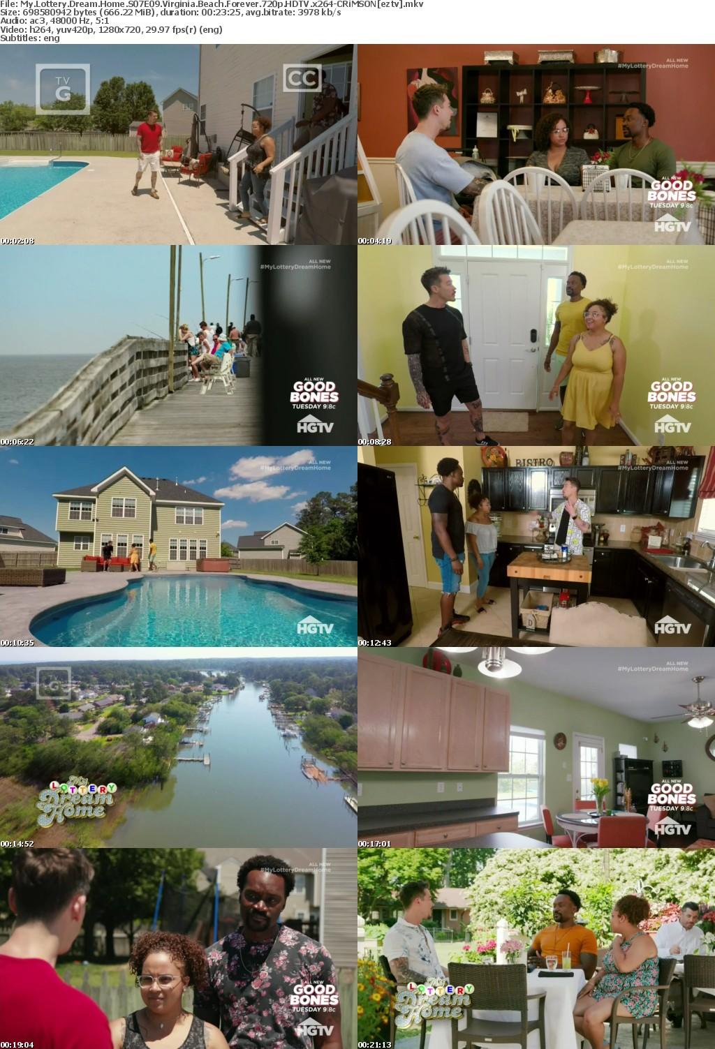 My Lottery Dream Home S07E09 Virginia Beach Forever 720p HDTV x264 CRiMSON