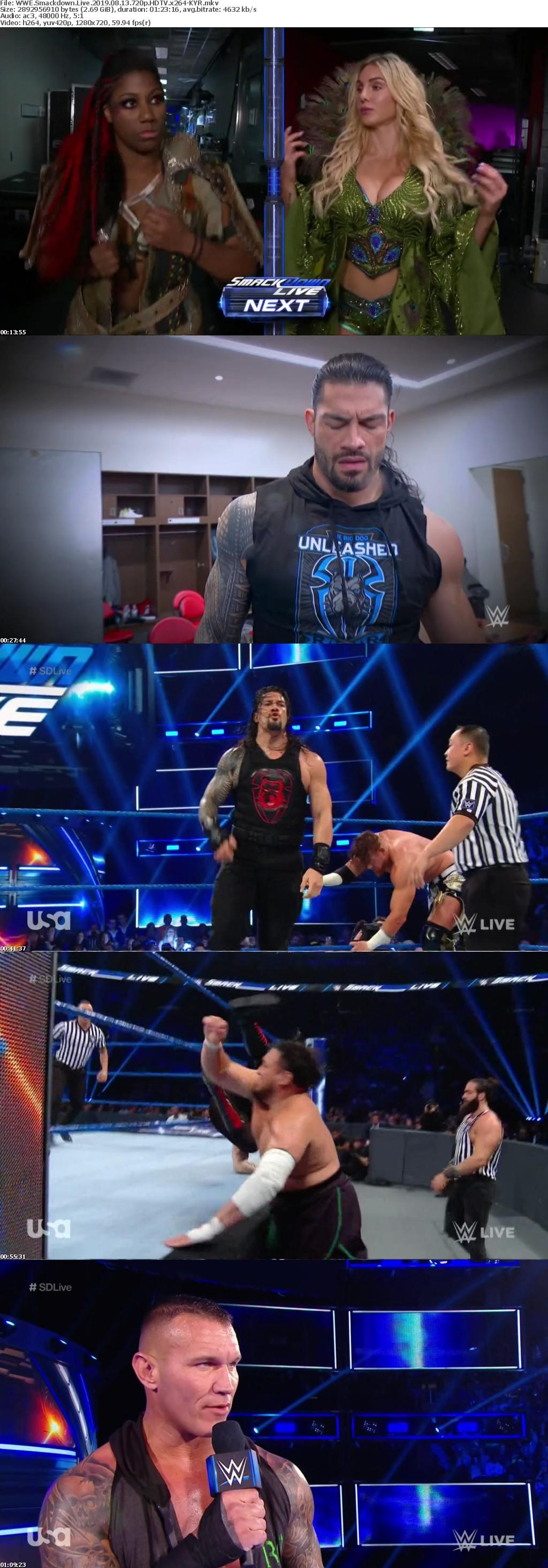 WWE Smackdown Live 2019 08 13 720p HDTV x264-KYR