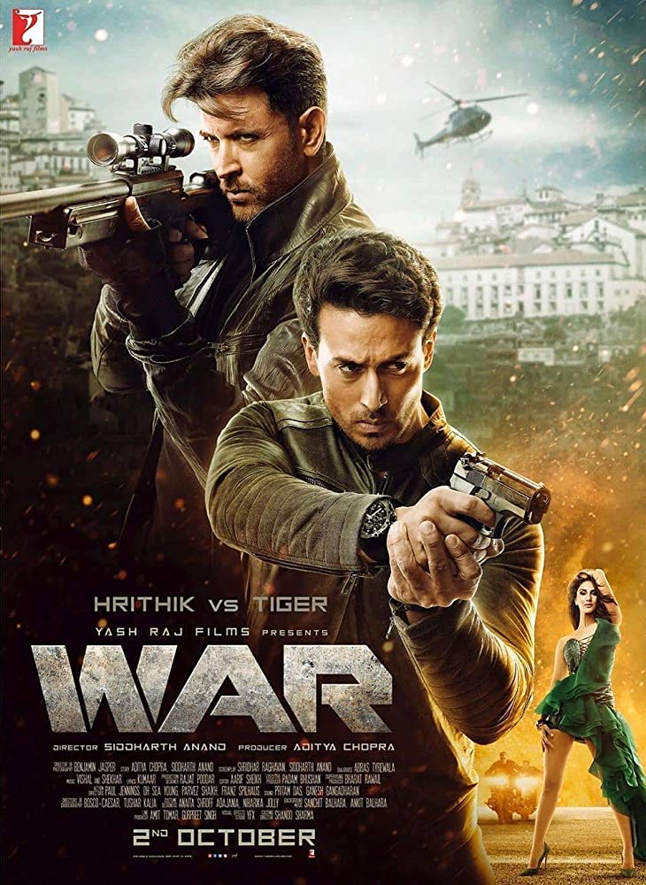 War 2019 WebRip Hindi 1080p x264 DDP 5 1 ESub - mkvCinemas [Telly]