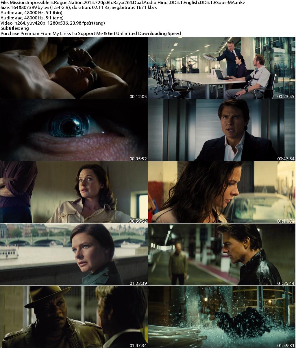 Mission Impossible Rogue Nation (2015) 720p BluRay x264 Dual Audio Hindi DD5.1 English DD5.1 ESubs-MA