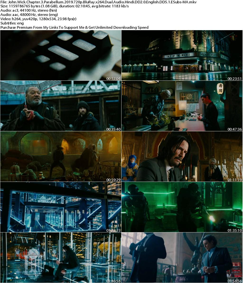John Wick Chapter 3 Parabellum (2019) 720p BluRay x264 Dual Audio Hindi DD2.0 English DD5.1 ESubs-MA