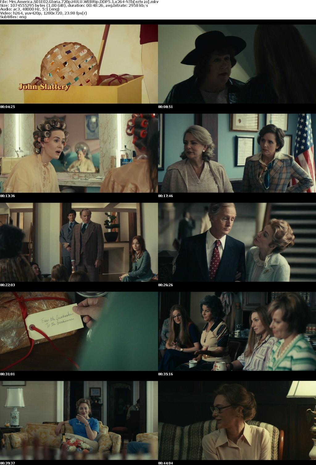 Mrs America S01E02 Gloria 720p HULU WEBRip DDP5 1 x264-NTb