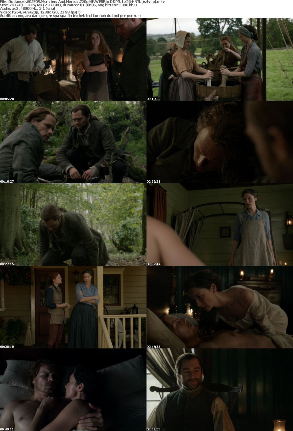 Outlander S05E09 Monsters And Heroes 720p NF WEBRip DDP5 1 x264-NTb