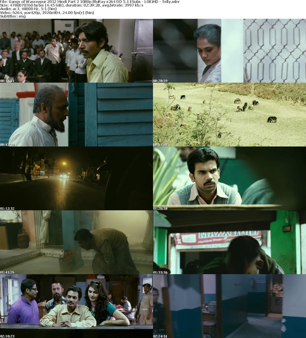 Gangs of Wasseypur 2012 Hindi Part 2 1080p BluRay x264 DD 5 1 ESubs - LOKiHD - Telly