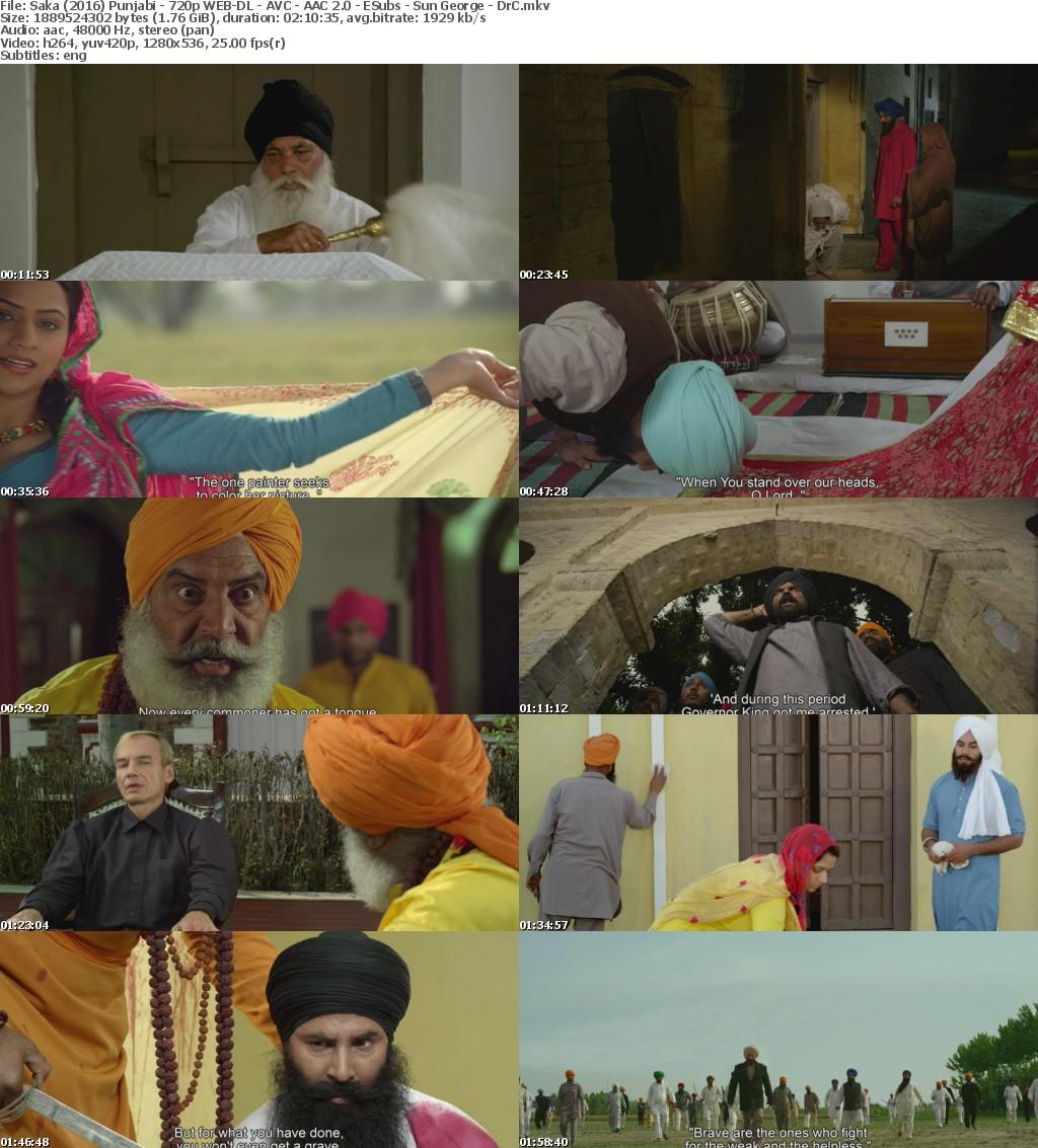 Saka: The Martyrs of Nankana Sahib (2016) Punjabi - 720p WEB-DL - AVC - AAC 2.0 - ESubs - Sun George - DrC