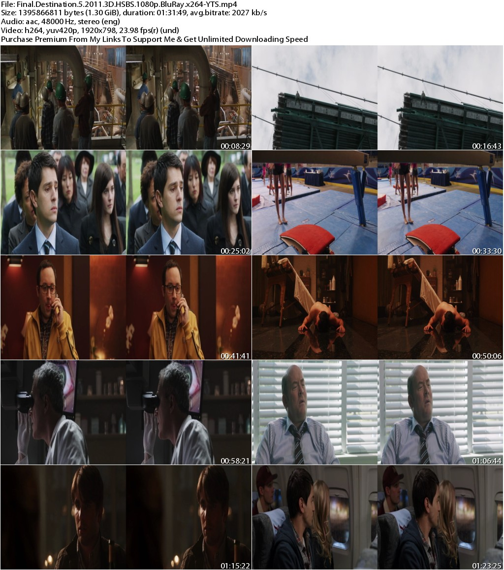 Final Destination 5 (2011) 3D HSBS 1080p BluRay x264-YTS