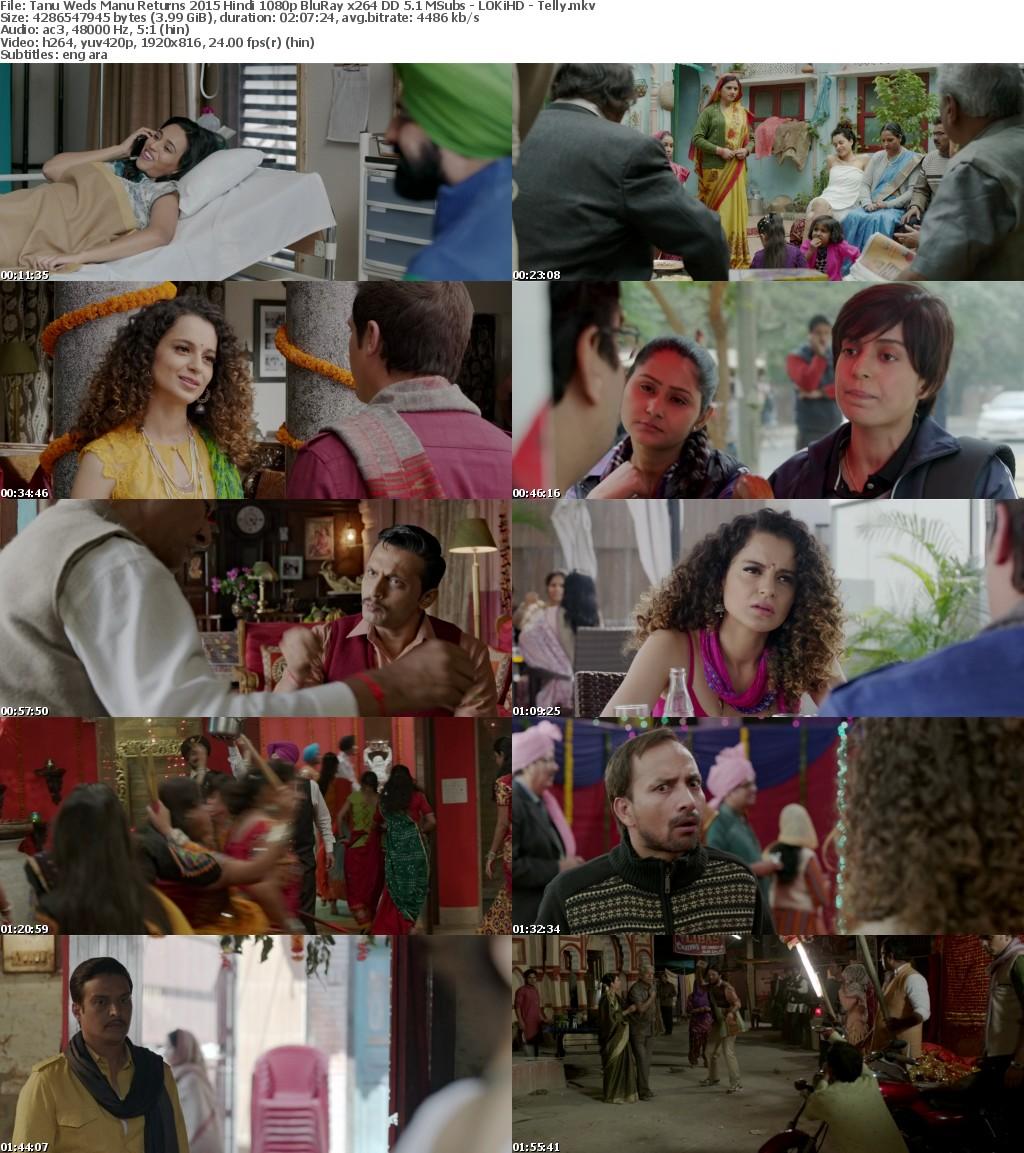 Tanu Weds Manu Returns 2015 Hindi 1080p BluRay x264 DD 5 1 MSubs - LOKiHD - Telly