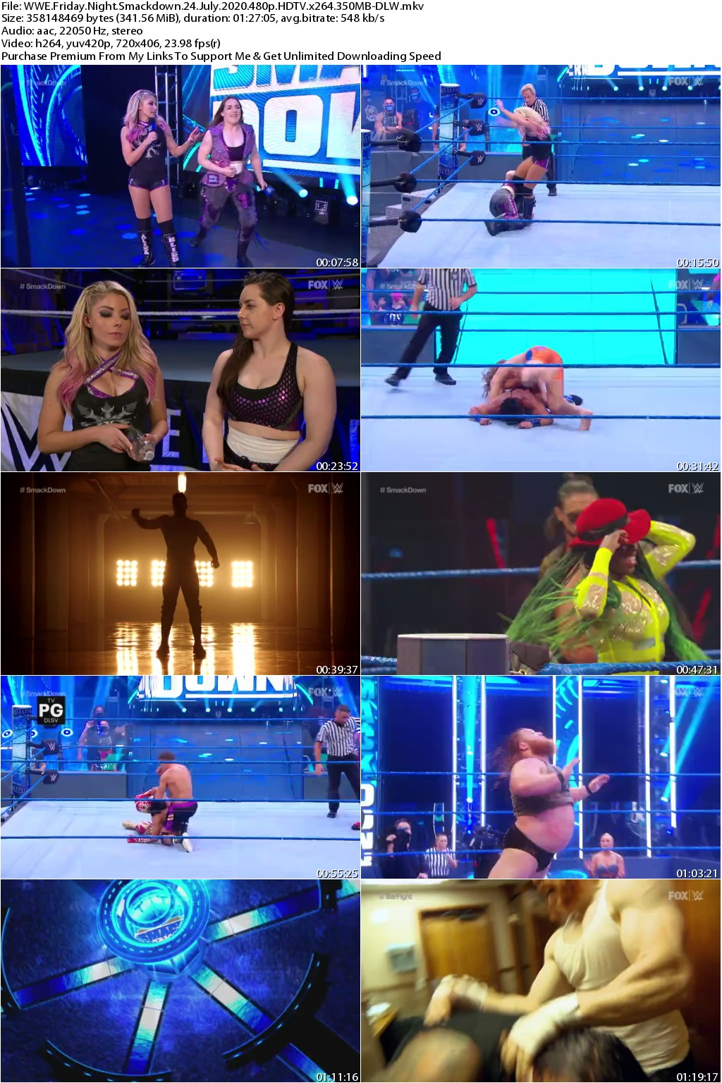 WWE Friday Night Smackdown 24 July 2020 480p HDTV x264 350MB-DLW