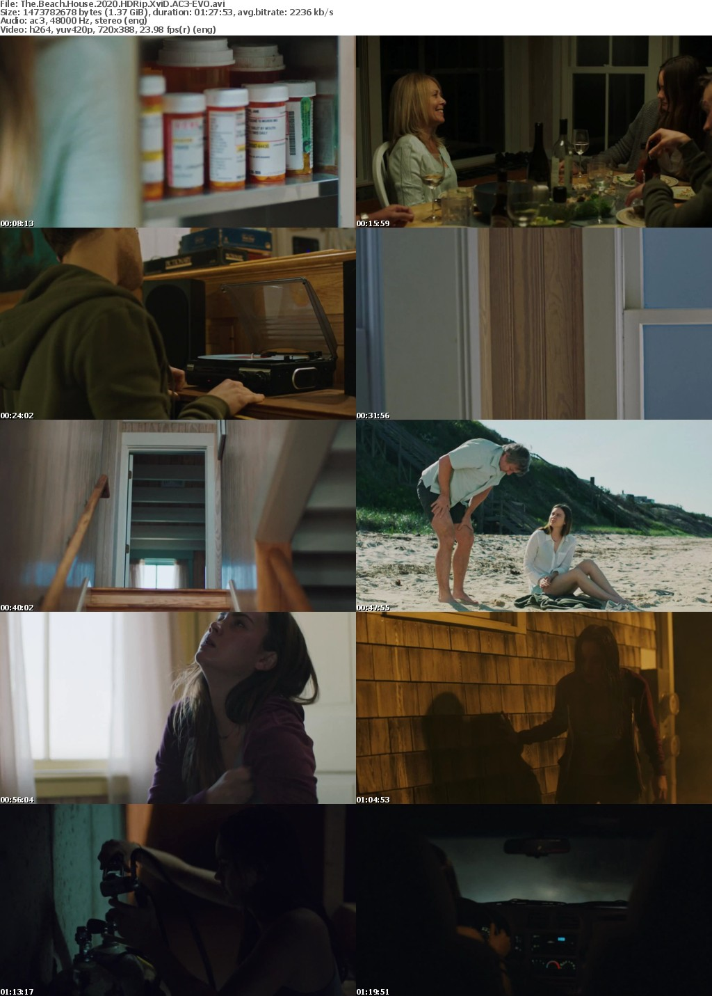 The Beach House 2020 HDRip XviD AC3-EVO