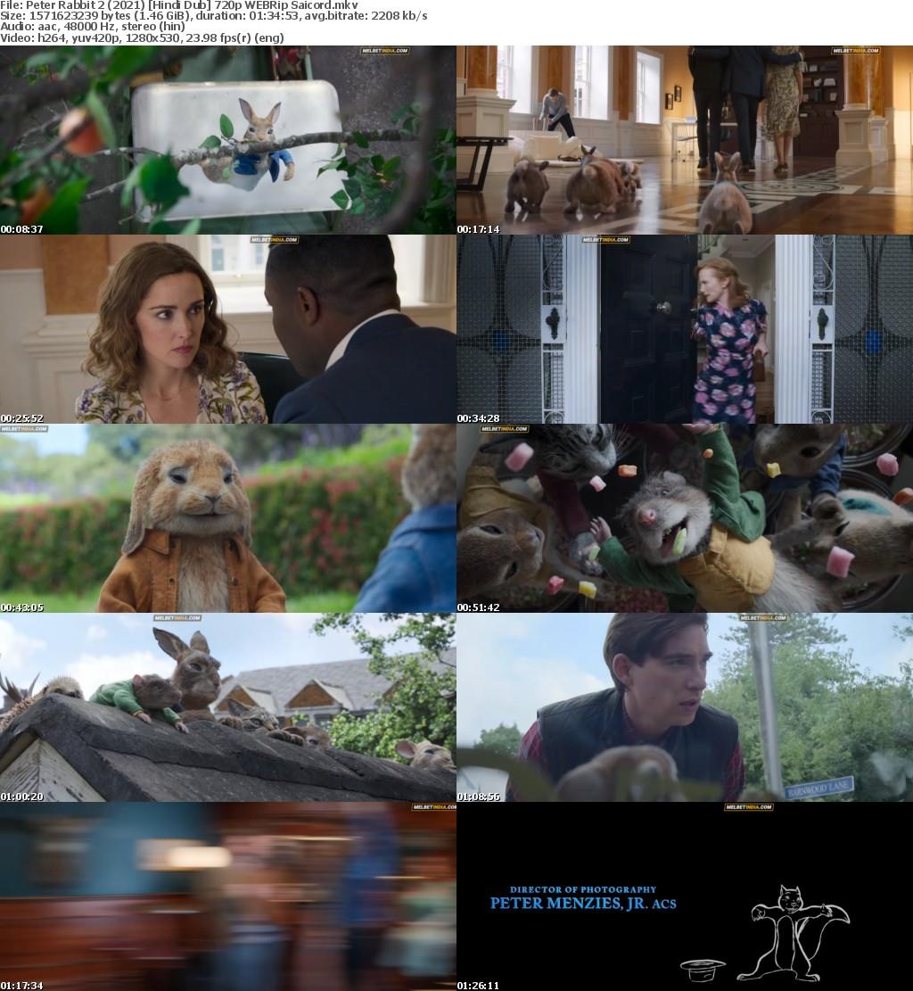 Peter Rabbit 2 (2021) Hindi Dub 720p WEBRip Saicord
