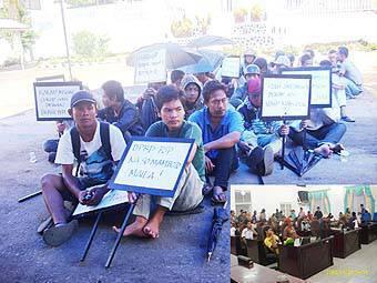 78430078fe3fb3ded28a8747df6acef29df01b7 Tanyakan Besarnya Anggaran Pansus Sangkumpal Bonang Demonstran Duduki Gedung DPRD Psp